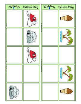 Alphabet Patterning Play Game ~ Literacy / Reading Center for Letter I