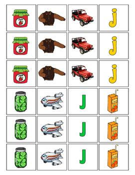 Alphabet Patterning Play Game ~ Literacy / Reading Center for Letter J