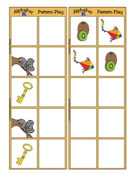 Alphabet Patterning Play Game ~ Literacy / Reading Center for Letter K