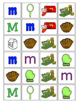 Alphabet Patterning Play Game ~ Literacy / Reading Center for Letter M