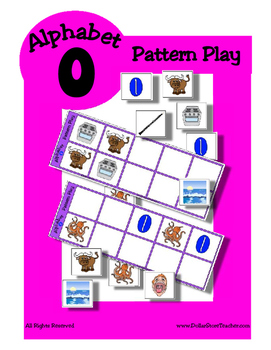 Alphabet Patterning Play Game ~ Literacy / Reading Center for Letter O