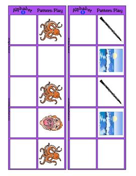 Alphabet Patterning Play Game ~ Literacy / Reading Center for Letter O
