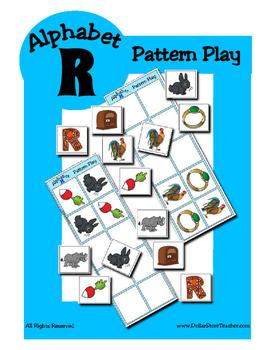 Alphabet Patterning Play Game ~ Literacy / Reading Center for Letter R