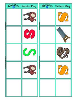 Alphabet Patterning Play Game ~ Literacy / Reading Center for Letter S