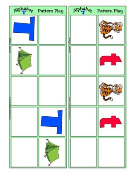 Alphabet Patterning Play Game ~ Literacy / Reading Center for Letter T