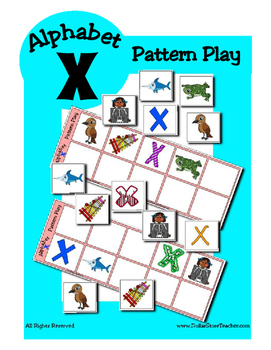Alphabet Patterning Play Game ~ Literacy / Reading Center for Letter X