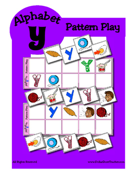Alphabet Patterning Play Game ~ Literacy / Reading Center for Letter Y