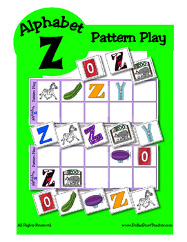Alphabet Patterning Play Game ~ Literacy / Reading Center for Letter Z