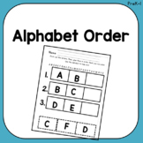 Alphabet Order: Cut, Glue, Color in ABC Order!
