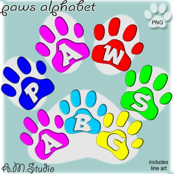 Alphabet: Paws Alphabet Letters and Numbers.