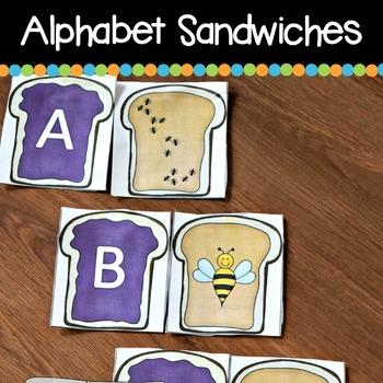 Alphabet Peanut Butter & Jelly Sandwiches