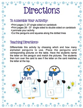 Alphabet - Penguin Alphabet Match