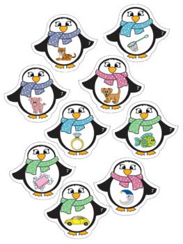 Alphabet - Penguin Themed File Folder Alphabet Match