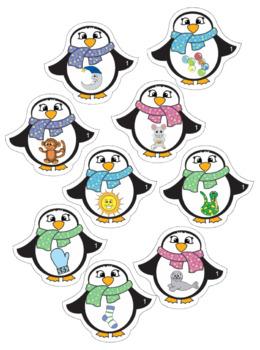 Alphabet - Penguin Themed File Folder Sound Match