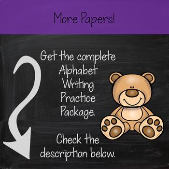 Alphabet Penmanship - Alphabet Writing Practice - Correct Letter Formation FREE