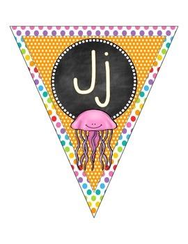 Alphabet Pennant Banner