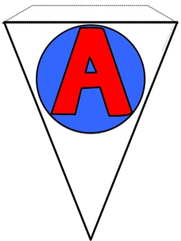 Alphabet Banner in Red and Blue