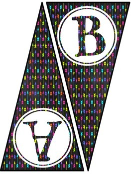 Alphabet Pennant Banner or Bunting