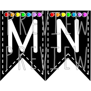 Alphabet Pennant Banners