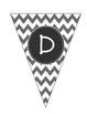 Alphabet Pennant-Grey