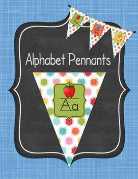 Alphabet Pennant Posters Polka Dots