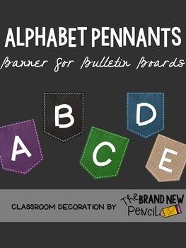 Alphabet Pennants Bulletin Board Banners