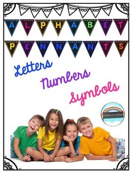 Alphabet Pennants: Chalkboard and Bright