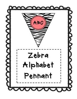 Alphabet Pennants-Zebra