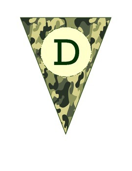Alphabet Pennants in Camouflage