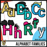 Alphabet People Clip Art | Adult Uppercase and Kid Lowerca
