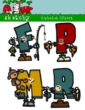 Alphabet People Clipart - Clip art