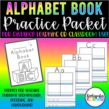 Alphabet Phonics Book - Distance Learning Packet Encoding, Handwriting