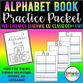 Alphabet Phonics Book - Distance Learning Packet Encoding, Handwriting