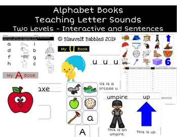 Alphabet Phonics Books and Activities - Adapted Bundle