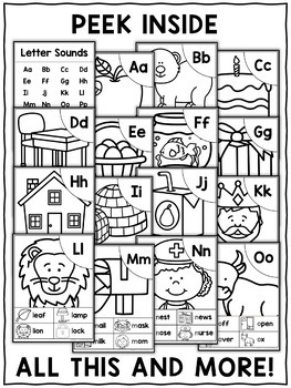 Alphabet Word Work Phonics Posters