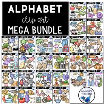 Alphabet Phonics Clip Art MEGABUNDLE (314 Graphics) Whimsy Workshop Teaching