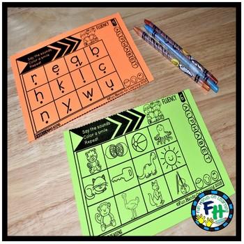 Alphabet Phonics Fluency Strips