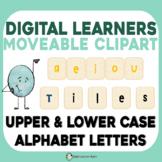 MOVABLE Clipart Alphabet Phonics Moveable Letter Tiles for