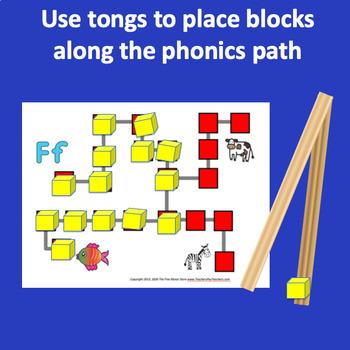 Fine Motor Alphabet Phonics Manipulative Centers with Tongs and Blocks