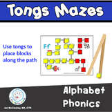Fine Motor Alphabet Phonics Centers with Tongs and Blocks