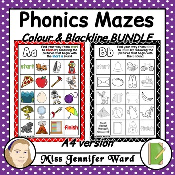 Alphabet Phonics Mazes A4 BUNDLE