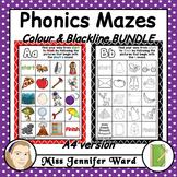 Alphabet Phonics Mazes A4 BUNDLE