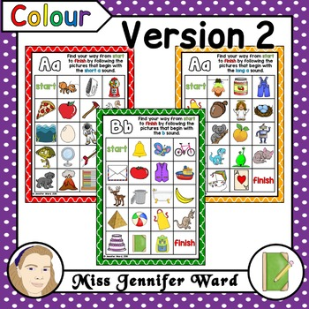 Alphabet Phonics Mazes A4 Version