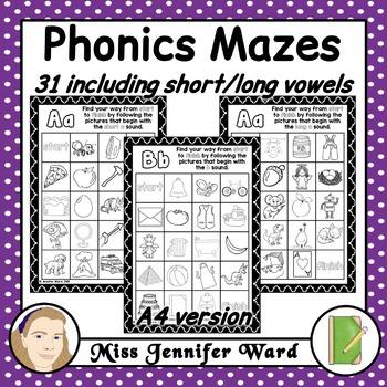 Alphabet Phonics Mazes A4 Version