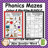 Alphabet Phonics Mazes LETTER BUNDLE