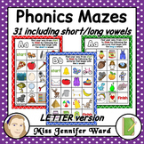 Alphabet Phonics Mazes LETTER Version