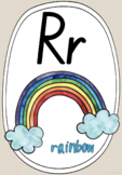 Alphabet Phonics Posters - Natural with Watercolour