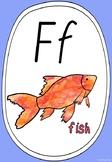 Alphabet Phonics Posters - Rainbow with Watercolour (Modern Cursive Font)