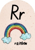 Alphabet Phonics Posters - Warm Speckled with Watercolour (Foundation Font)