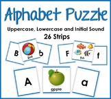 Alphabet Phonics Puzzle - Matching Uppercase, Lowercase an